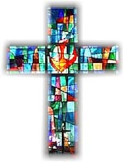NSUMC stained glass window cross