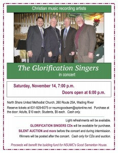 Glorification Singers flyer